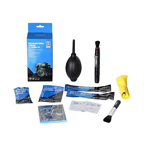 Zhice Cámara Accesorios de Fotos Kit de Limpieza 9pcs para Lentes DSLR/Sensor/Pantalla LCD
