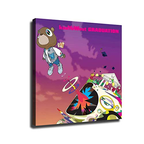 FINDEMO Kanye West Graduation Art Music Album Poster Painting Canvas Art Poster and Wall Art Picture Print Modern Family Bedroom Decor Posters /0105 (with Framed,24x24 inch)