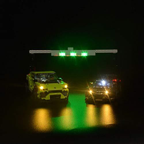 PEXL Beleuchtung Licht Set für LEGO Speed Champions Lamborghini, LED Beleuchtungsset Kompatibel mit Lego 76899 Lamborghini Urus & Huracán (Ohne Lego Set)