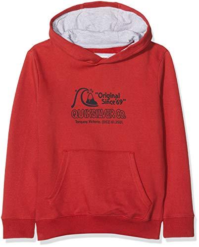 Quiksilver Nelson Sun-Sweat à Capuche pour Garçon 8-16 Ans Sweatshirt, Garnet, FR : L (Taille Fabricant : L/14)