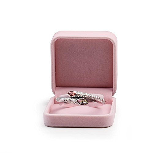 Oirlv Pink Velvet Bracelet Gift Box Wedding Jewellery Display Stand Bangle Bearer