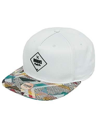 Djinns Herren Caps/Snapback Cap Rubber Aztek weiß Verstellbar