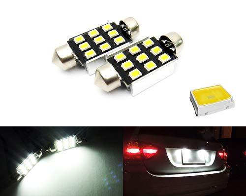 2 x Blanc 239 272 6418 C5 W 37–38 mm Ampoule Navette CANBUS Samsung 9 LED Éclairage intérieur licence lampe de plaque d'immatriculation