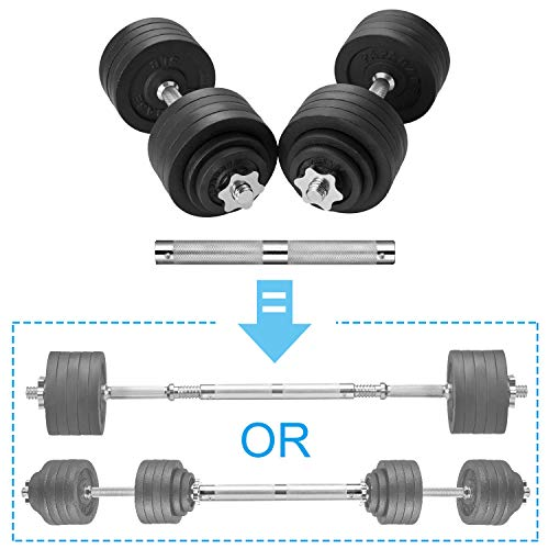 papababe Adjustable Dumbbells Cast Iron with Connector 40 50 65 105 200, Adjustable Dumbbell Sets, Lifting Dumbells. (52.5, Pair)