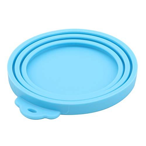 ZYYXB Pet Food Can-Abdeckung Hund Katzenfutter Can Can Lids Universal-Silikonbelägen für Tiere Konserven für Hunde und Katzen Decken 1 3 Standard Fit Größe (Blue 1)