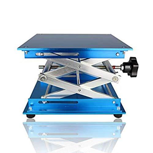 Akozon 7.9x7.9 Scientific Lab Laboratory Scissor Jack Plataforma de elevaci/ón de laboratorio de acero inoxidable Stand Rack Scissor Lab-Lift Lifter Plataforma elevadora Lab