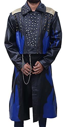 PJapparel Descendants 3 Cheyenne Jackson Hades tachonado de cuero negro disfraz, Negro  Piel autntica., XL