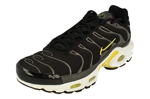 Nike Mujeres Air MAX Plus Running Trainers CN0142 Sneakers Zapatos (UK 6 US 8.5 EU 40, Black Yellow White 001)