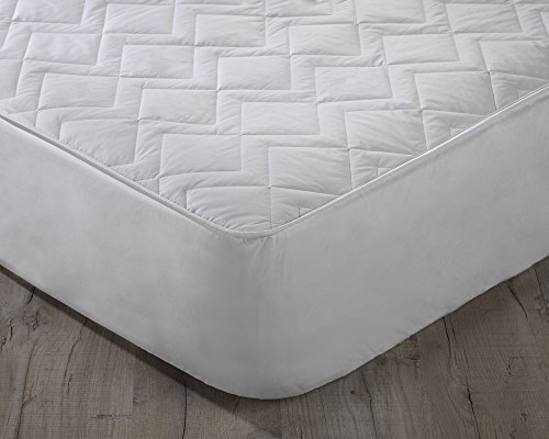 Orginal Sleep Company Australian Wool Filled Quilted Mattress Protector with 38cm Deep Skirt - Double