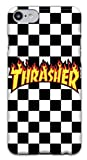Featuring Thrasher Compatible with iPhone 7 8 Soft Phone Case Cover Cool Skateboarder (A) Black and White