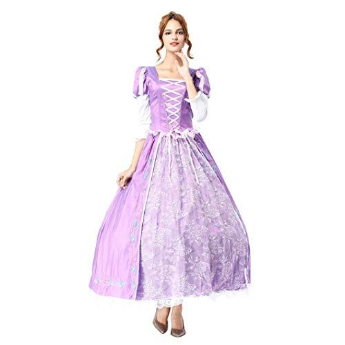 OwlFay Damen Rapunzel Kostüm Prinzessin Sofia Kleid Karneval Cosplay Verkleidung Festlich Geburtstagsfeier Halloween Faschingskostüm