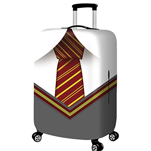 DATUI Suit Print Trolley Case Protective Cover Elasticity Travel Luggage Protector Suitcase Cover Washable Dust Cover 53cmx35cm