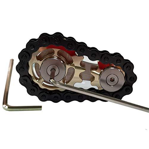 Stainless Steel Sprocket Fidgets Chain Fidget Cube Gears Linkage Bike Chain Novelty Fidget Block...