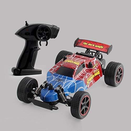 HBBOOI Sicherheit Fernbedienung Auto Unbegrenzte Terrain RC Car 2,4 GHz High-Speed-Radio-Fernbedienung Racing Cars Vier-Kanal-Off-Road-Rock-Fahrzeug (Color : Spiderman)