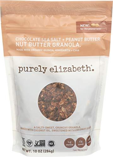 Purely Elizabeth Ancient Grain Granola - Certified Gluten-free, Vegan & Non-GMO   No Refined Sugar - Chocolate Sea Salt + Peanut Butter Nut Butter - 12oz