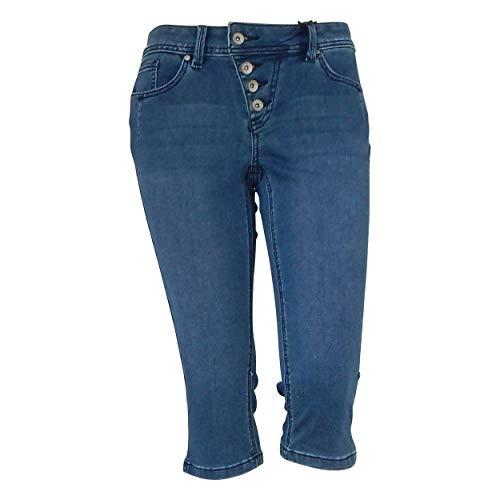 Buena Vista Damen Jeans Malibu-Capri Sweat Denim Middle blau - M