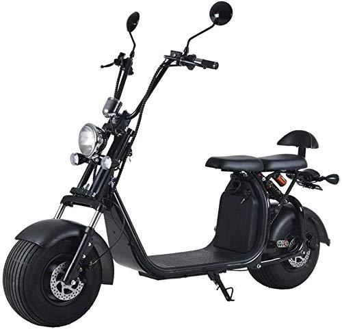 Elektroroller mit Straßenzulassung Chopper X7, 20Ah / 50km Reichweite, E-Scooter E-Roller 40 km/h Straßenzulassung, Schwarz