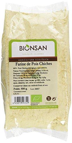 Bionsan - Farine de Pois Chiches Biologique | 3 Paquets de 500 gr | Total : 1500 gr