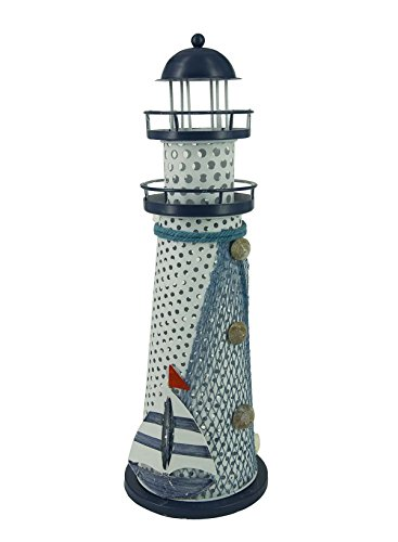 Nautical Ocean Lighthouse Color Changing LED Night Light Metal Vintage Openwork Ocean Lighthouse Wedding Lamp Desktop Ornaments