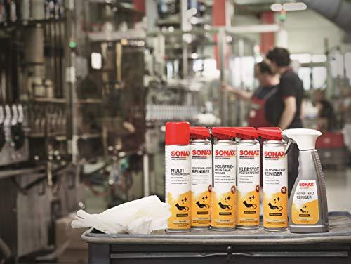 SONAX KlebstoffRestEntferner mit EasySpray (400 ml) schnelle, rückstandslose Entfernung von Klebstoffresten z. B. Etiketten, Folien, Aufklebern, usw. | Art-Nr. 04773000 - 5
