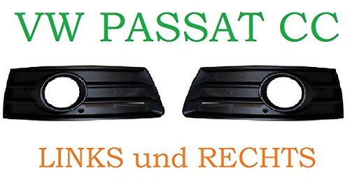 Left and Right VW PASSAT CC 2008–2012Grille Grill in Bumper Cover NEU