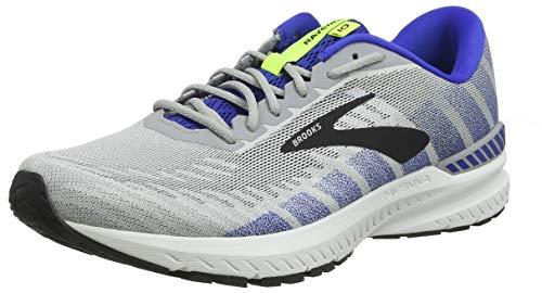 Brooks Mens Ravenna 10 Running Shoe - Alloy/Blue/Nightlife - D - 10.5