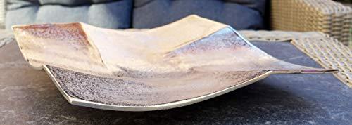 Michael Noll Dekoteller Schale Servierplatte Aluminium Silber Luxus - Moderne Dekoschale aus Metall - S 23 cm, M 30 cm, L 35 cm (23x23x4,5 cm)