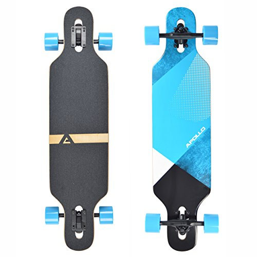 Apollo Longboard Maguro, Komplettboard, Twin-Tip Drop-Through Freeride Cruiser Board