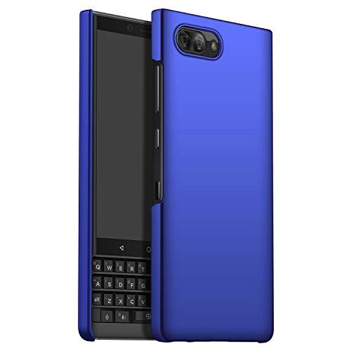GOGODOG Kompatibel mit BlackBerry Key2 LE Hülle Vollständige Abdeckung Ultra dünn Matte Anti-Rutsch Kratzen Beständig Hartschale (Blau)