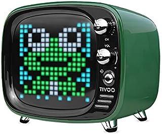 MJPA Portable Bluetooth Speaker Smart Clock Alarm Pixel Art DIY by App LED Light Sign in Decoration Unique Gift (Color : G...