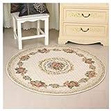 Alfombras redondas de estilo pastoral de 160 cm para la sala de estar fresca casa dormitorio alfombras y alfombras de ordenador silla área alfombra de niños alfombra de juego