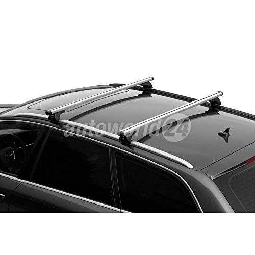 Barras de techo de aluminio para Audi A6 Avant 09/2011 – 07/2018 con rieles cerrados