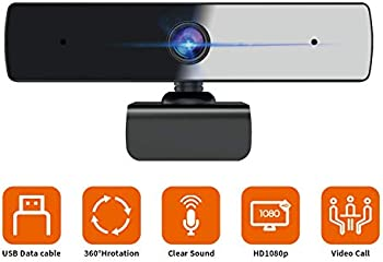 Qtniue Full HD 1080P Webcam With Built-In Dual Microphone