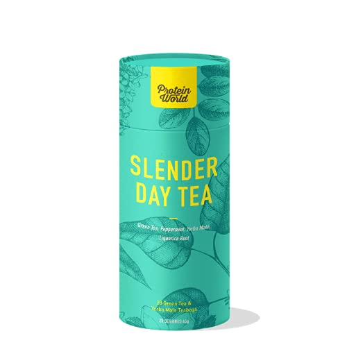 Protein World - Slender Day Tea - Energy Boost & Anti-Bloating Tea 1 Month - 28 Tea Bags