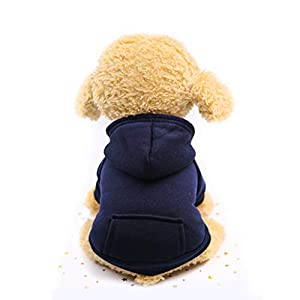 Befx Dog Clothes Pet Dog Hoodies Only for Puppy Small Dogs Coat Soft Fleece Warm Puppy Clothes Vest Chihuahua Clothes Coat Jacket Sweatshirts Puppy Outfits Cat Clothing Dogs Clothing,Read Size Firstly