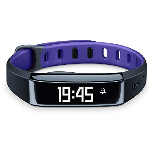 Beurer AS 80 C Aktivitätssensor (Violet, Messung Anzahl der Schritte, zurückgelegte Strecke, Kalorienverbrauch, Schlafanalyse, mit Bluetooth 4.0 und kostenloser HealthManager App)