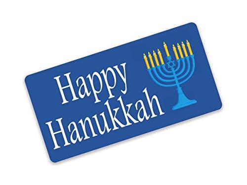 EricauBird Happy Hanukkah Sign Metal Wreath Sign Attachment Décor for Home Bar Cafe Hotel Club 8×12 Inch Hanukkah Menorah Hanukkah Décor Menorah Sign License Plate Sign Hanukkah Gift