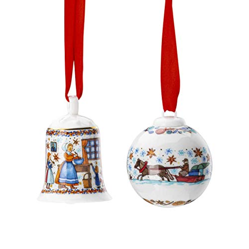 Hutschenreuther Set Miniglocke/Kugel Sammelkollektion 20 Weihnachtsbäckerei