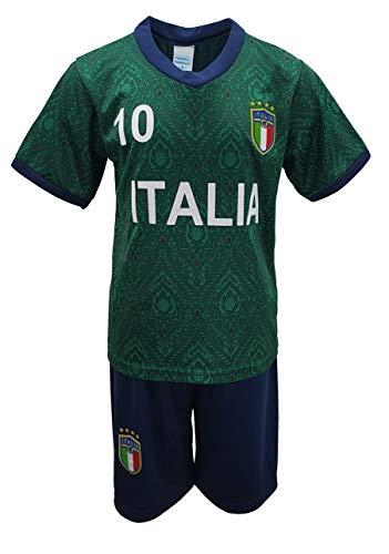 Unbekannt Fussball Fan Set Italien Italia Trikot + Shorts in Grün, Gr. 152, JS77.14