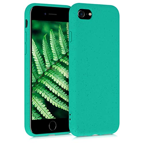 kalibri Case Compatible with Apple iPhone 7/8 / SE (2020) - Made of TPU and Eco-Friendly Natural Wheat Straw - Mint