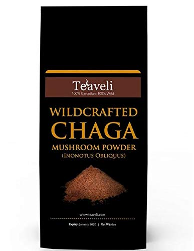 Premium Chaga Mushroom Powder- Powerful Support for Healthy Immune System- Ethically Wildcrafted- Chaga Powder for Chaga Tea & Chaga Coffee- Add to Coffee & Smoothies- Made Without GMO, Fillers-6 oz