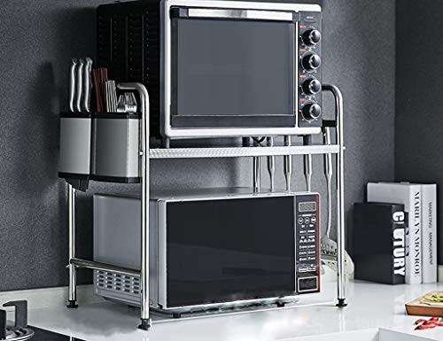 HYYK Küchenregale Organizer Edelstahl Küchenregale Arbeitsplatten Gewürz Lagerregale einschichtige Mikrowelle Rack Größe Optional (Größe: 53 cm)