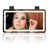 Car Visor Vanity Mirror, Car Makeup Mirror with LED lights, USB Rechargeable Travel Vanity Mirror,3 Light Mode Sun Visor Mirror, Built-in Lithium Battery