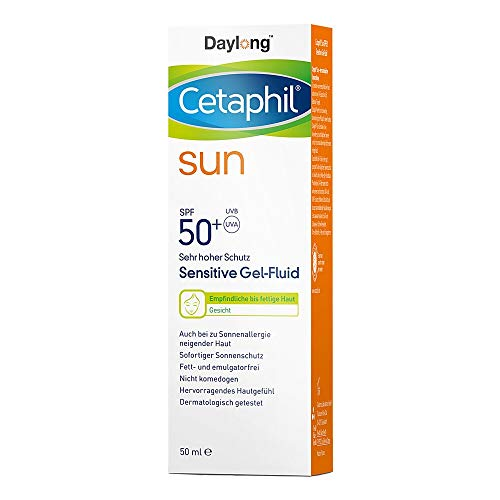 Cetaphil sun 50+ Sensitive Gel-Fluid cara, 50 ml Gel