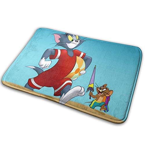 hehai Tom and Jerry Carpet Floor Mat Rug Non-Slip Bathroom Antiskid Pad Bath Washable Blanket Mats 15.7 X 23.5 Inch