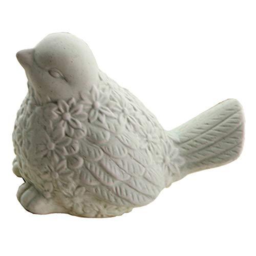 PETSOLA Adorno de Cerámica en Forma de Pájaro - Estatua de Porcelana - Artesanía de Decoración para Fiestas en El Hogar - 12 Cm X 8 Cm X 8 Cm - Verde, tal como se describe