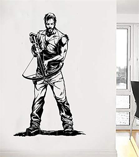 Wandaufkleber Kinderzimmer Daryl Dixon Mit Armbrust The Walking Dead Poster Zombie Tv Aufkleber Für Wohnzimmer Schlafzimmer Wandtattoo Kinderzimmer Wandtattoo Schlafzimmer