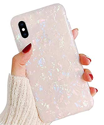 """J.west iPhone X Case, Opal iPhone X Case Luxury Sparkle Bling Crystal Clear Soft TPU Silicone Back Cover for Girls Women for Apple 5.8"""" iPhone Xs (Colorful)"""