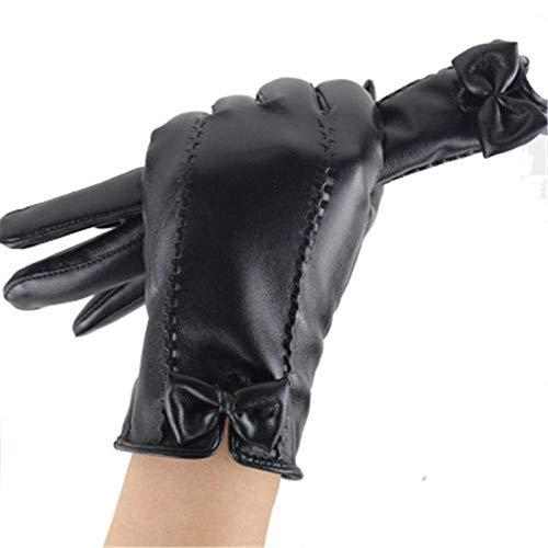 GBSTA Ridding Handschoenen Herfst en winter leren handschoenen vrouwen plus fluwelen warme handschoenen touch screen dames leren handschoenen winddicht rijden fietshandschoenen gift box