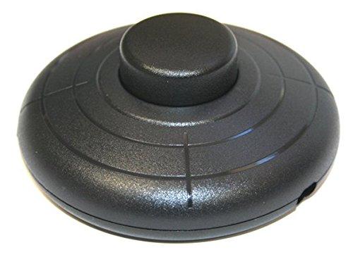 Interruptor Pulsador de sobremesa o pie 2A/250V, Color Negro Electro DH 11.645.P/N...